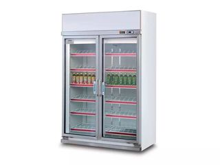 Guzzini GN-1200TN Glass Door Refrigerator Cabinet