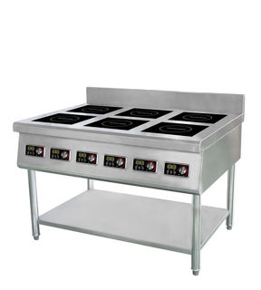 Guzzini 6 Burner Commercial Induction Cooktop