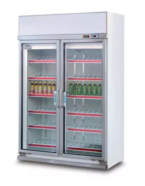Guzzini Double Glass Door Refrigerator Cabinet