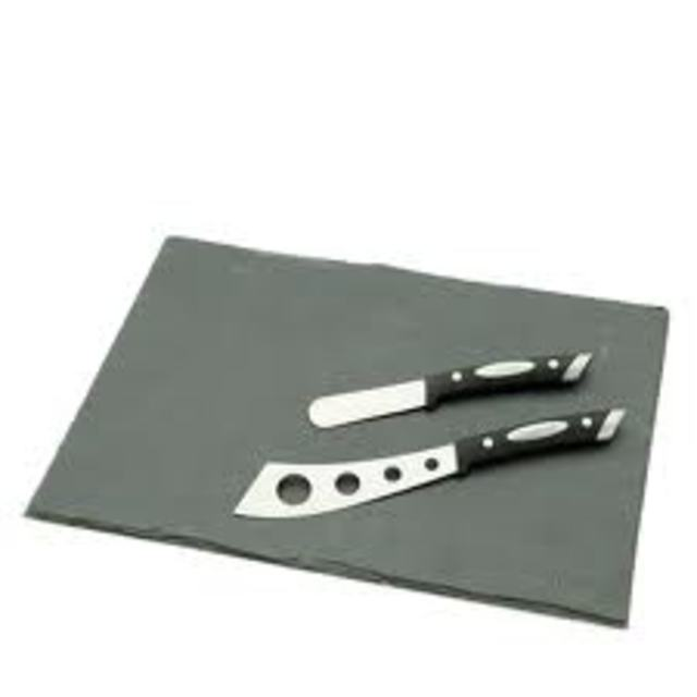 Scanpan Slate Board And Cheese Knife Set -3 Piece