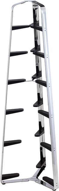 Hahn 6 Tier Polished Pan Stand with Black Arms